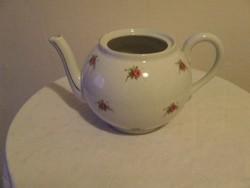 Zsolnay porcelán rózsás teáskanna