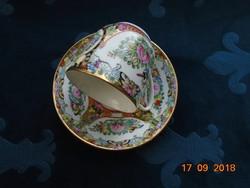 """Jingdezhen-újszerű kézzel festett """"Millefleur""""(Ezer virág) csésze alátéttel"""