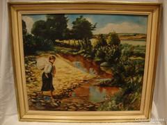 Csonka I. '1937 Nő batyuval festmény