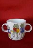 Alföldi porcelán kétfüleű gyerekbögre