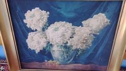 Komáromi Kacz Endréné; Virágcsendélet; akvarell,