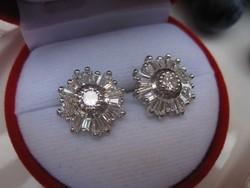 Hópehely ezüst fülbevaló - 925-ös sterling ezüst