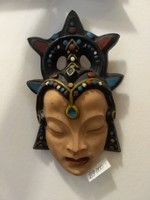 Budai Műhely: Orientalista stílusú kerámia fali maszk