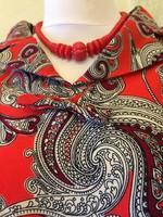 Paisley mintás vintage ruha