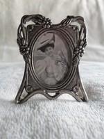 Miniatűr szecessziós, art nouveau álló  fényképtartó