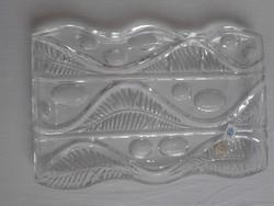 Retro cseh Poltar üveg tál,kínáló,asztalközép