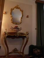 Egyedülálló aranyozott konzolasztal asztal XVII-XIX. század
