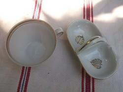Retro Bavaria-Sótartó-só-borsszóró és kávéscsésze fehér-arany