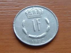LUXEMBURG 1 FRANK 1982   S+V