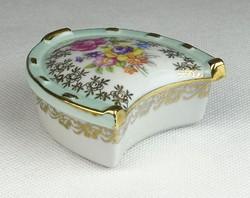 0S987 Régi PM porcelán patkó alakú gyűrűtartó