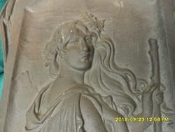 Szecessziós antik  hibátlan öntöttvas fali dísz