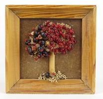 0S462 Gyöngydíszes életfa szerencsefa falikép