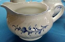 Tea, hosszú kávé kiöntő, kanna, német finom TCM porcelán