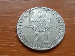 PORTUGÁLIA 20 ESCUDOS 1998 S+V