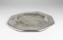 0T059 Antik kávéházi ezüstüzött alpakka tálca