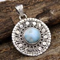 925 - ös Gyönyörű Larimár ezüst medál