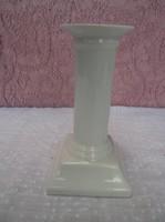 Porcelán - JELZETT - hófehér  - 13 x 7 x 7 cm - gyertyatartó - hibátlan.