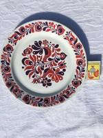 Alföldi fali népi mintás porcelán falitányér - nagy tányér