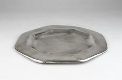 0T058 Antik kávéházi ezüstüzött alpakka tálca