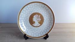 Francia Limoges aranyozott szecessziós tányér