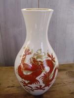Sárkányos,Goldrelief Wallendorf váza
