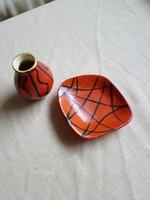 Tófej kerámia - váza és hamutál