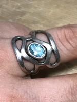 Mesés ezüst gyűrű 20 nm  akvamarinnal