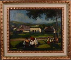 BALLA BÉLA (1882 - 1965): Délidő Nagybányán