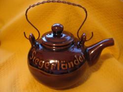 Siegerlander Mackes M. Bucholz nagy kézműves teás kanna