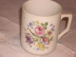 Zsolnay rózsás csésze teás