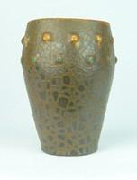 0T133 Retro jelzett iparművészeti kerámia váza