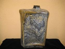 Zsolnay  pirogranit  padló váza  , a 60 as évekből  ,Fürtös György terve alapján