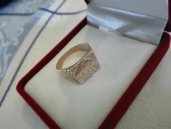Pecsétgyűrű, arany hatású