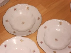 Zsolnay  virágos mély tányér 3 darab