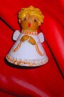 Szilágyi Mária  jelzett   kerámia figura -csengő