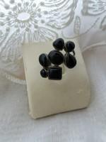 Látványos ezüst- gyűrű Ónix kővel