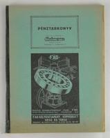 0T222 Malomipari Malomipari Pénztárkönyv 1941