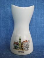 Sopron szuvenír Aquincumi porcelán váza