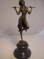 Revütáncos hölgy bronz szobor AKCIÓ
