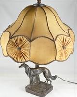 Kutya bronz lámpa 50  eredeti ernyővel