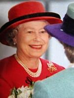 ERZSÉBET II. ANGOL KIRÁLYNŐ + FÜLÖP HERCEG JELZETT KÉP SYGMA SAJTÓ FOTÓ ARANYLAKODALOM LONDON 1997