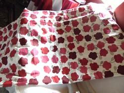 Hatalmas sötétítő függöny krém alapon ciklámen piros bordó drapp  virágos