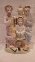 Szent család lenyűgöző szépségű porcelán szobor