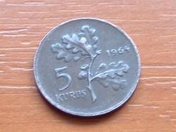 TÖRÖK 5 KURUS 1964