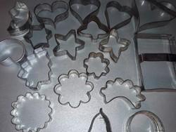Süti sütemény kiszúró forma 18 darab cukrászati eszköz