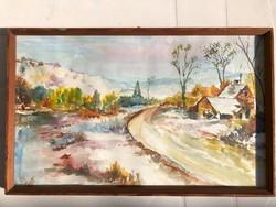 Gottcshik Márton akvarell 50cm x 30cm