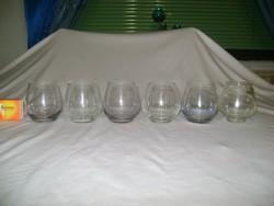 Retro röviditalos pohár készlet - hat darabos