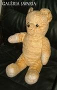Nagy antik síró Teddy maci - szalma mackó