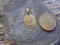 Aranymedál, horoszkópos rák medál