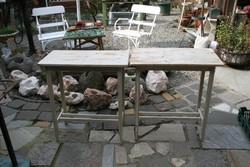 Fenyő konzolasztal pár - egyben eladó